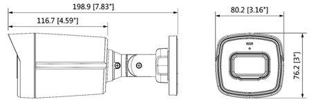 KAMERA AHD, HD-CVI, HD-TVI, PAL DH-HAC-HFW1230TLP-A- 0360B - 1080p 3.6mm DAHUA