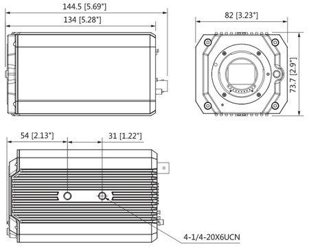 KAMERA HD-CVI, PAL DH-HAC-HF3805GP - 4K UHD DAHUA