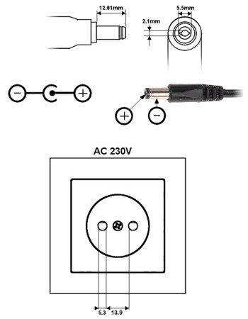 ZASILACZ 12V/2A/5.5